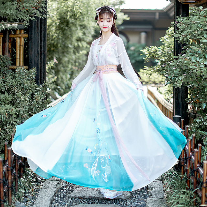 Original Design Fairy Costume Hanfu Women Festival Outfit Chinese Ancient Dynastic Dance Show Costume Stage Hanfu Women BL2031