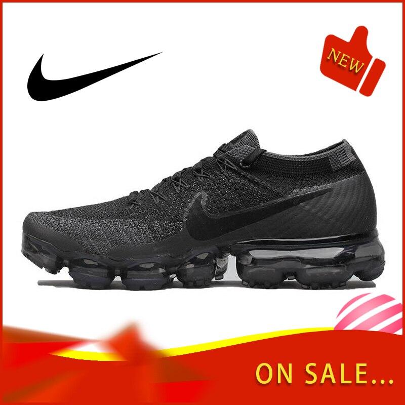 Original authentique Nike Air VaporMax être vrai Flyknit hommes chaussures de course en plein Air chaussures de sport classique respirant 849558-007