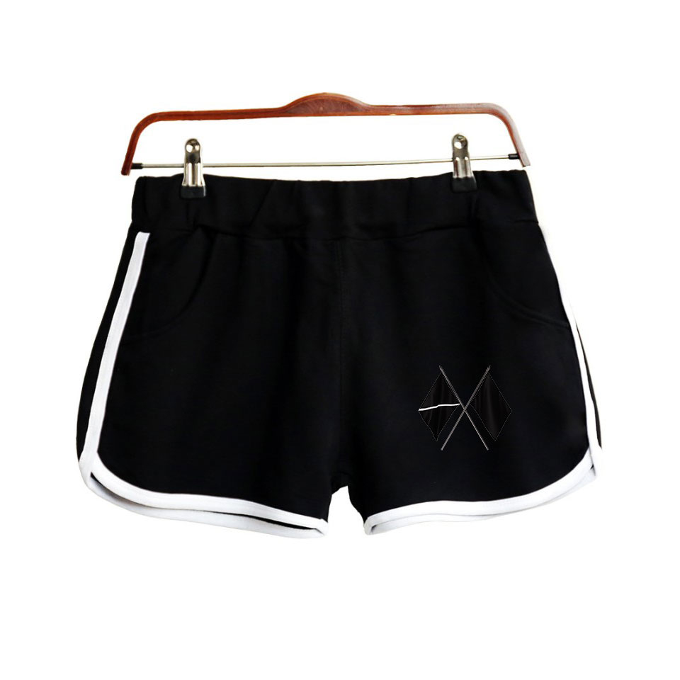 2019 KPOP EXO Sixth Album OBSESSION EXO THE STAGE THE PLACE Print Women Shorts Harajuku Ladies Hot Sale Sexy Kawaii Shorts