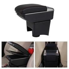 DWCX Car Centre Console Armrest Storage Box Black Fit for VW Polo Mk5 Vento 2010 2011 2012  2013 2014 2015 2016 2017