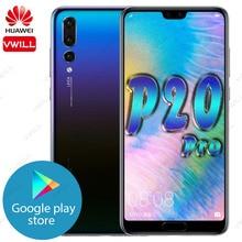 Huawei teléfono inteligente P20 Pro Original, 128GB, 6,1 pulgadas, Kirin 970, ocho núcleos, desbloqueo facial con identificación de huellas dactilares, supercarga, 4000mAh, GPU Turbo
