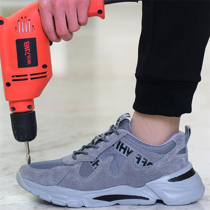 Steel Toe Work Safety Shoes for Men Lightweight Working Boots Male Waterproof Sneakers Non-slip Puncture Proof Industrial Shoes image