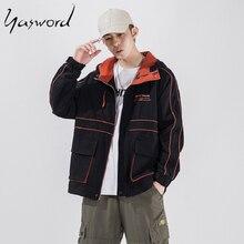 Yasword Jacket Men Coats New autumn 2019 Loose Jackets Hooded windbreaker Fashion High Quality