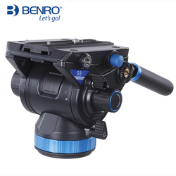BENRO S8 Video Head S Series Professional Video Head QR13 Quick Release Plate For HDV Photographers Max Loading 8kg