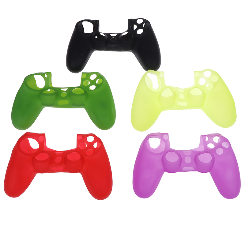 Protective Solid Color Cases Slim Controller Case Silicone Soft Flexible Gel Rubber Shell Cover Video Game Controller Accessory