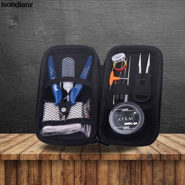 DIY Tool Kits Electronic Cigarette V3.5 KIT Pliers Ceramics Tweezers Coil Jig Vape Pen RDA RBA RTA Atomizer