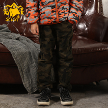 Children's wear outdoor winter trousers kids camouflage thick cotton pants boys and girls casual wear цена