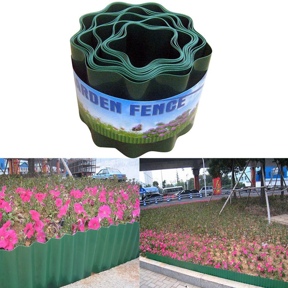 Courtyard Grass Wall Durable Garden Decorative Palisade Lawn Edging Path Flower Protect Fence Flexible DIY Ripple Shape Insert