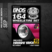 BNDS 1:64 металлические колеса резиновые шины от HAYASHI YAYOI в сборе обода модифицированные части JDM VIP стиль для модели автомобиля 4 шт набор