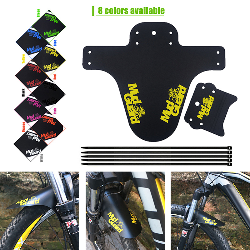 Hot Bike Fenders 1Pcs Colorful Mudguard MTB Road Bike Front Mud Guard Rear Bicycle Wings Mud Flaps For Mountain Bike Accessories
