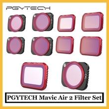 Набор профессиональных фильтров PGYTECH для DJI Mavic Air 2 UV CPL NDPL ND 8 16 32 64, фильтр для объектива камеры DJI Mavic Air 2, аксессуары