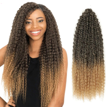 Afro Kinky Curly Wigs Braid Crochet Braiding Hair Extensions Marly Hair Ombre Brown Bug Hair for Black Women Expo City