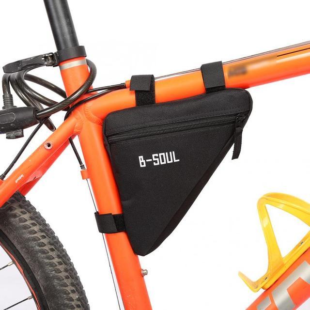 Bicicleta quadro saco triângulo frente à prova dwaterproof água tubo quadro bolsa mtb estrada saco de armazenamento da bicicleta titular sela saco para ciclismo acessório 3