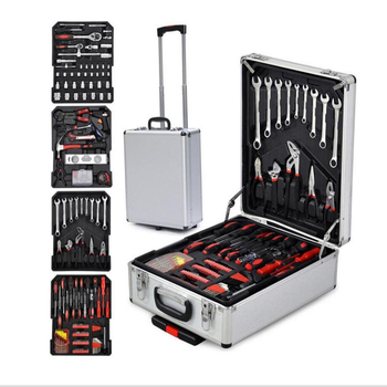 цена на 186 car aluminum alloy box tool set manual tool set screwdriver wrench set wrench home repair kit
