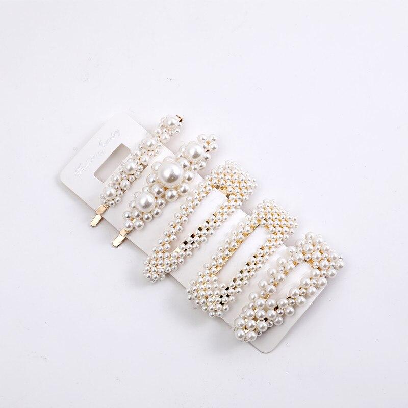 5pcs / Set Pearl Hair Clips Fashion Soft Pearl Hair Clips, Suitable For Women's Hair Clips Hair Stick Girls Hair Accessories