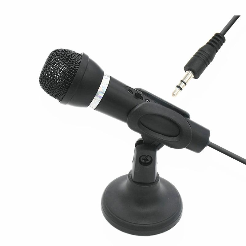 Microfone handheld do condensador 3.5mm plug com suporte para computadores portáteis tablet gravação de 180 graus rotação karaoke microfone