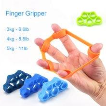 Mão pinça silicone dedo expansor exercício aperto da mão força de pulso treinador dedo exercitador faixas de resistência fitness