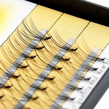 Kimcci 60knots/Case Natural False Eyelash Extension Makeup 10D Mink Individual Faux Eye Lashes Professional Fake Grafting Cilias