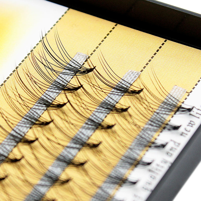 Kimcci 60knots/Case Natural False Eyelash Extension Makeup 10D Mink Individual Faux Eye Lashes Professional Fake Grafting Cilias