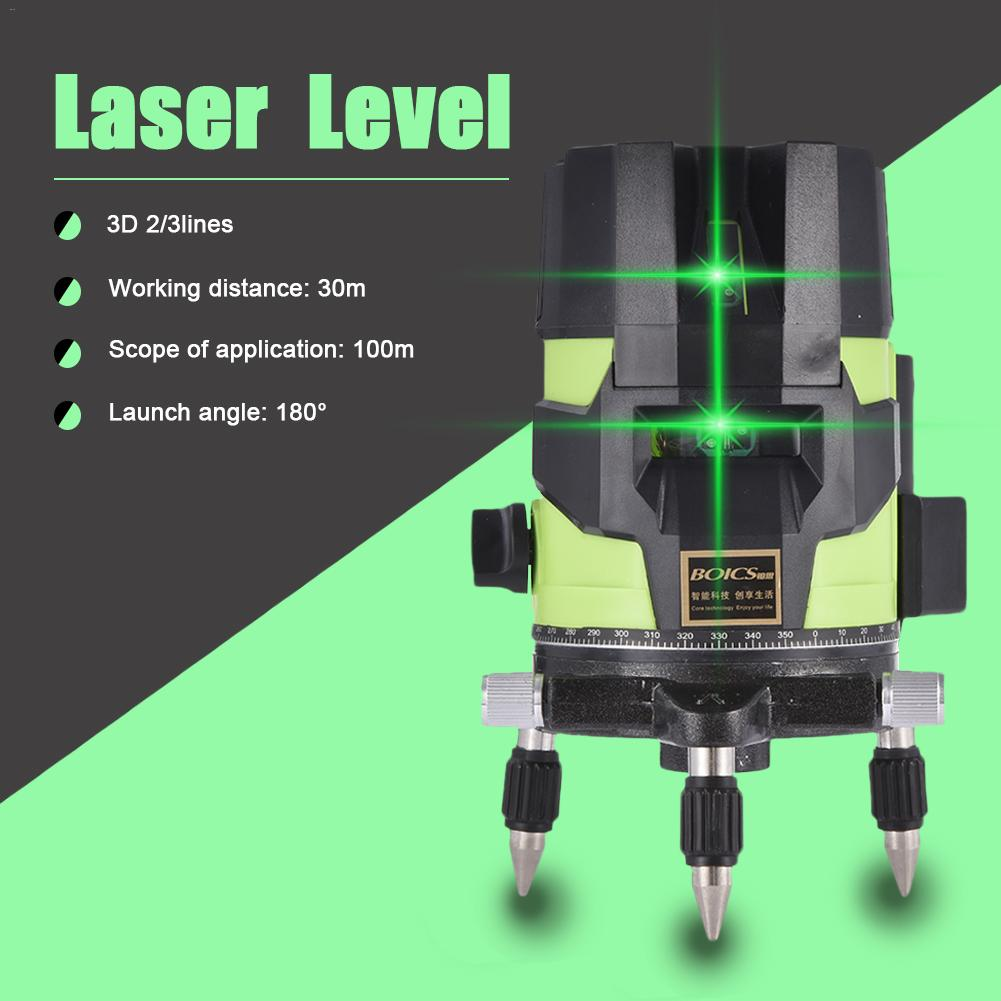 Green Light Level Laser 2/3/5 Line Laser Level High Precision Automatic Line Thrower 635nm down to point: 1 x 650nm|Laser Levels| |  - title=