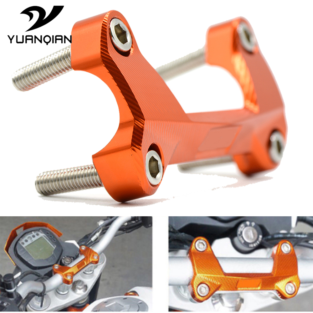 Motorcycle Accessories moto CNC Aluminum Handlebar Mount Clamp Top Cover For Yamaha MT-09 for KTM DUKE 125 2006-2013 2014 2015 image