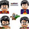 4pcs Famous Uk British Band Rock Star John Paul George Building Block Mini Man Toys Figure Minifigs Toys For Children