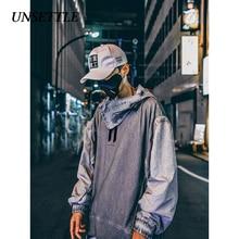 UNSETTLE Dirty Japanese Hoodies Sweatshirts Harajuku Hip Hop Casual Pullover Oversize Hooded Streetwear Men Fashion Tops