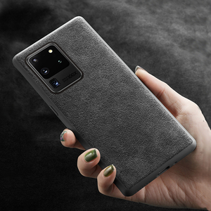 Image 5 - Suede Leather Phone Case For Samsung Galaxy S21 FE Case For S20 Plus Cowhide Cover For Note 20 Ultra Case