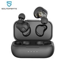 SOUNDPEATS Dual Dynamische Treiber Drahtlose Ohrhörer Bluetooth 5,0 APTX Audio CVC Lärm Stornierung 27Hrs Spielen Zeit Kopfhörer