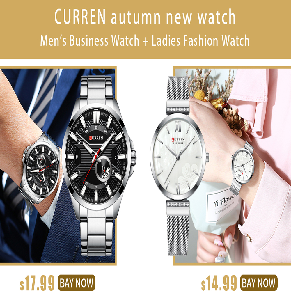 CURREN Autumn And Winter New High-end Couple Watches, Business Travel, Waterproof And Durable Quartz Couple Watches