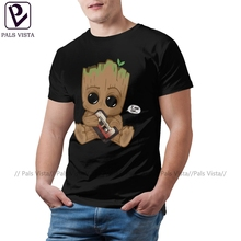 Groot T Shirt I Am GROOT T-Shirt Oversized Mens Tee Shirt Cotton Short-Sleeve Fun Printed Beach Tshirt