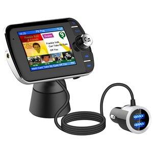 Image 1 - DAB004 DAB 디지털 라디오 수신기 LCD 컬러 스크린 디스플레이 블루투스 라디오 어댑터 지원 MP3 음악 USB 충전기 자동차에 대 한