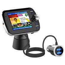 DAB004 DAB Radio cyfrowe odbiornik kolorowy telewizor LCD ekran Bluetooth Adapter radiowy wsparcie MP3 muzyka USB ładowarka do samochodu