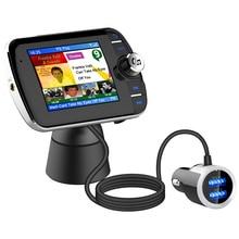 DAB004 DAB receptor de Radio Digital pantalla LCD a Color, adaptador de Radio Bluetooth, compatible con música MP3, Cargador USB para coche