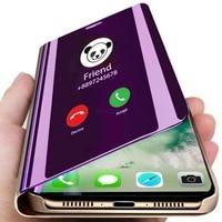 Smart Mirror View Flip Phone Case per Huawei Honor 8X 9X P30 Lite P20 Pro Mate 30 20 10 Lite P Smart Z Y6 Y9 Y7 Prime 2019 Cover