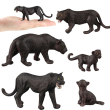 Simulation Panther Figure Collectible Toys Wild Animal Action