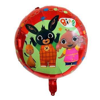 5 יח'סט קריקטורה בינג באני בלוני 18 אינץ חמוד ארנב רדיד אלומיניום תינוק מסיבת יום הולדת קישוט
