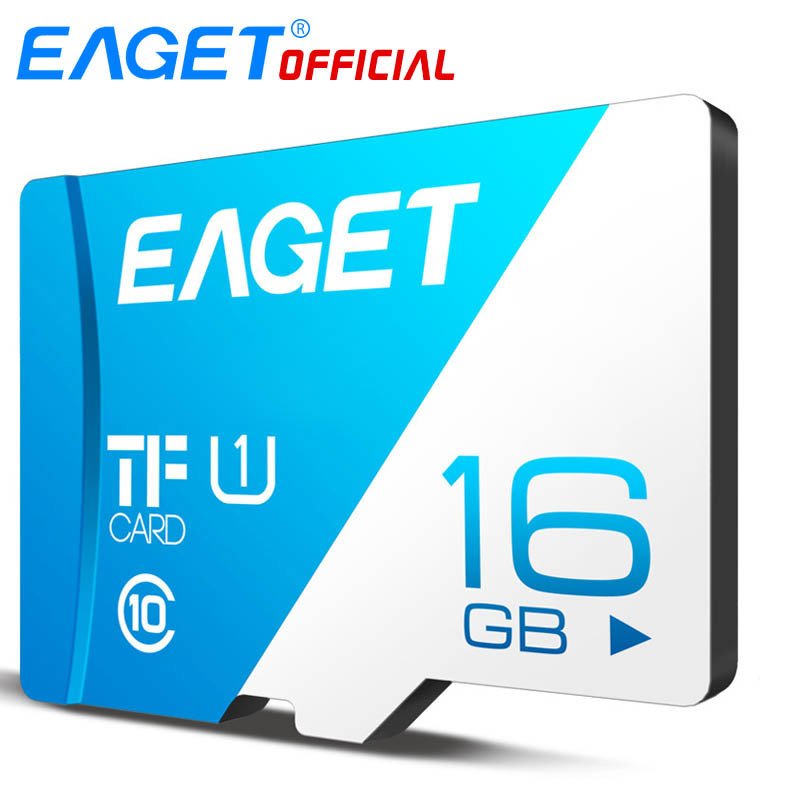 EAGET T1 Micro SD Card Class10 128GB Memory Card 32GB 16GB Micro SDXC TF Card 64GB High Speed UHS-I Flash For Phones Tablet