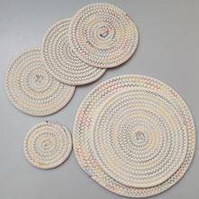 Hand-Woven Dining Table Mat Heat Insulation Pot Holder Round Coasters Coffee Drink Tea Cup Placemats Kitchen Supplies