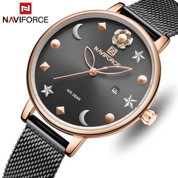 NAVIFORCE 5009 Women Watch Brand Watches Luxury Quartz Waterproof Wristwatch Ladies Girls Fashion Simple Clock with box