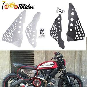 Image 1 - Protetor de painel de borracha lateral de alumínio, proteção de bordo para ducati scrambler sixty/deserto/acelerador completo/enduro urbano
