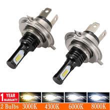 Novo 2 pçs h1 h3 h4 h7 led canbus h8 h11 hb3 9005 hb4 9006 led faróis mini 80w 12000lm carro lâmpadas automóveis lâmpada de automóvel