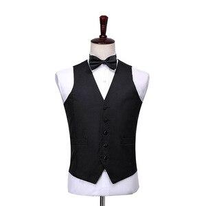 Image 4 - Shenrun ผู้ชายคลาสสิก 3 ชิ้น Tailcoat สีดำสีขาวงานแต่งงาน Tuxedo เจ้าบ่าวสูทธุรกิจ Party Prom นักร้องนักเต้น Host ชุดเวที