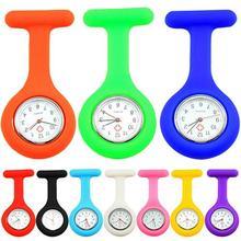 Повседневный Женский кармашек для часов Часы Милые силиконовые часы для Медсестры Брошь кармашек для часов Туника часы с кварцевым механизмом