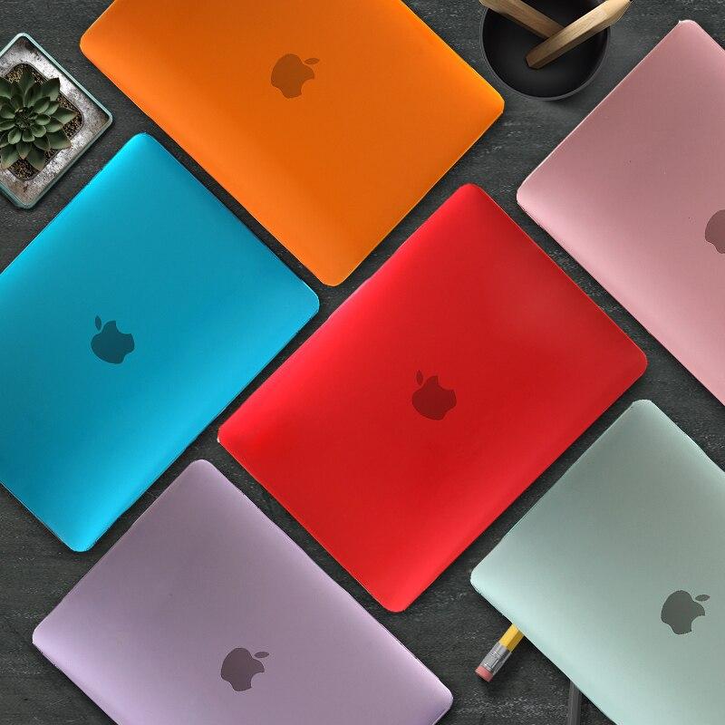 2020 прозрачный/матовый чехол для Macbook M1 Chip Air Pro Retina 12 13 15 16 дюймов, сенсорная панель для Macbook Air Pro 13 A1466 A2337 A2338