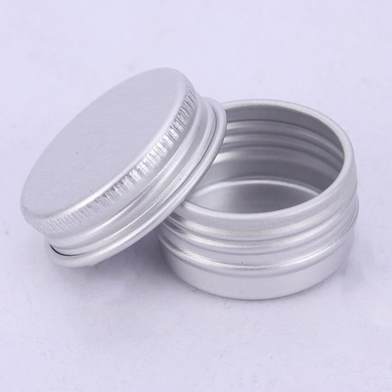10pcs Cosmetic Box Refillable Containers Nail Derocation Crafts Pot Portable Tin Jars For Make Up Creams DIY Lip Balms