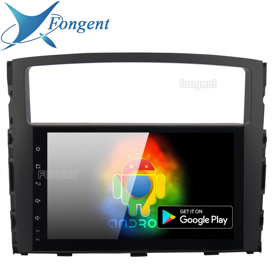 For Mitsubishi Pajero V97 V93 2006 2007 2008 2009 2011 Car Vehicle Multimedia Player Android 9.0 GPS DSP Navigation HDMI DVR OBD Mitsubishi Pajero