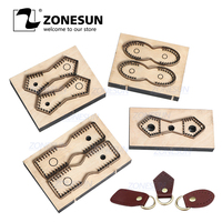 ZONESUN Leather Handbag Accrssory Cutting Die Zipper Holder Leather Decoration Tool For Die Cutting Machine DIY Handicraft Cut