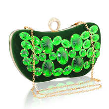 Golden Crystal Women Evening Bag Clutches Diamond Bridal Wedding Box Clutch Ladies Metal Hardcase Party Shoulder Handbags Purses цена