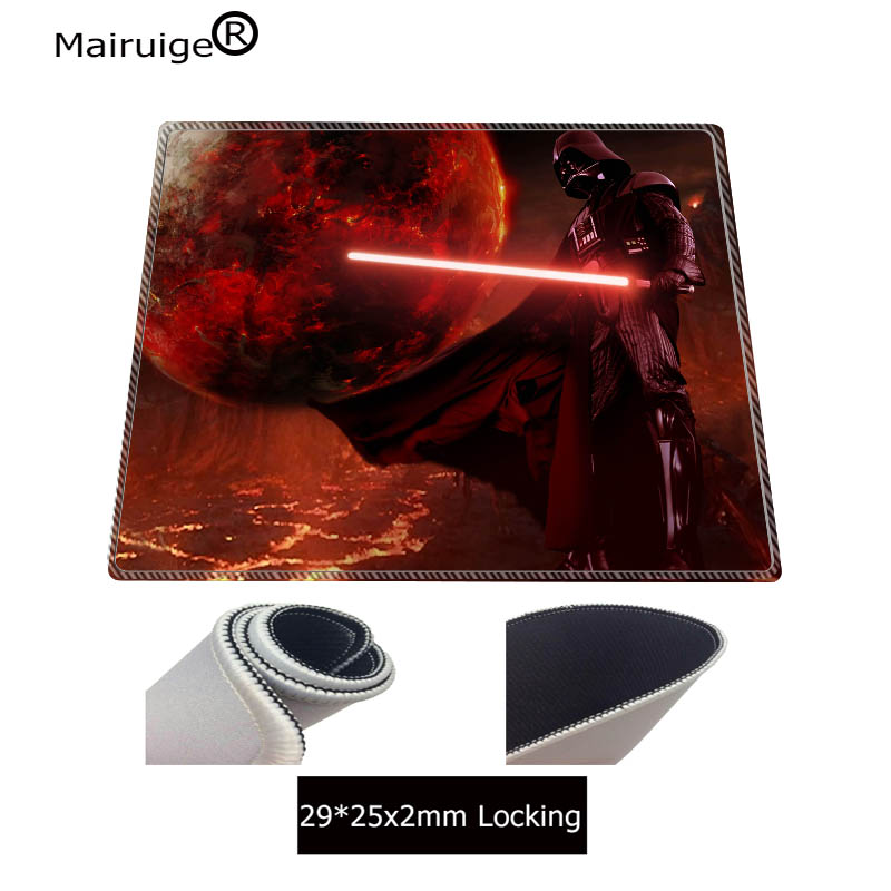 Mairuige Large Size Gaming Washable Mouse Pad Star Wars Lock Edge Mouse Mat Desktop PC Computer Laptop Mousepad Free Shipping in Mouse Pads from Computer Office